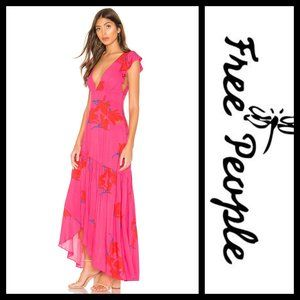 Free People Hibiscus She's A Waterfall Maxi Dress